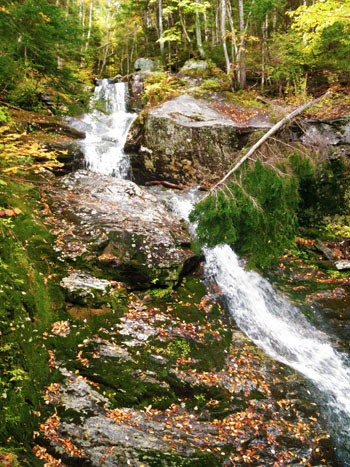 Beaver Brook Cascade, Beaver Brook Waterfalls, Kinsman Notch, White Mountains, NH, New Hampshire near Mount Moosilauke